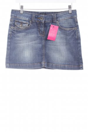 Hallhuber Jeansrock stahlblau Washed-Optik
