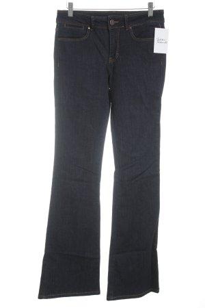 Hallhuber Jeansschlaghose dunkelblau-dunkelorange Retro-Look