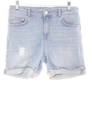 Hallhuber Jeansshorts mehrfarbig Metallknöpfe