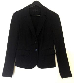 Hallhuber Jersey Blazer black mixture fibre