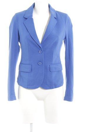 Hallhuber Blazer in jersey blu stile casual