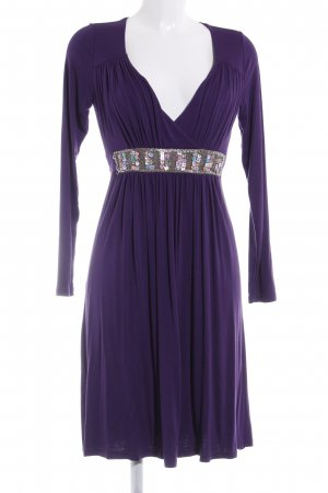 Hallhuber Jerseykleid dunkelviolett Casual-Look