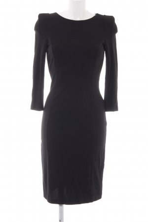 Hallhuber Jerseykleid schwarz Business-Look