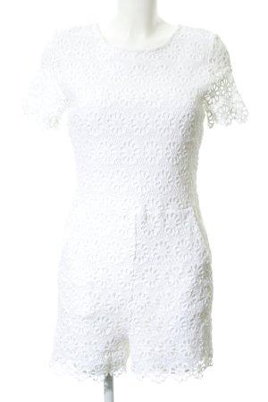 Hallhuber Combinaison blanc motif de fleur style romantique