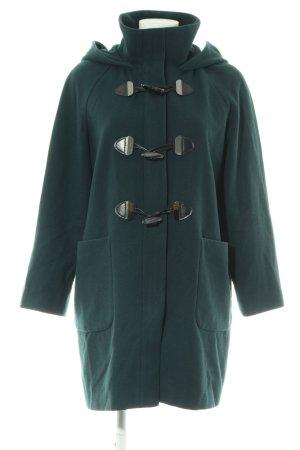 Hallhuber Capuchon jas groen casual uitstraling