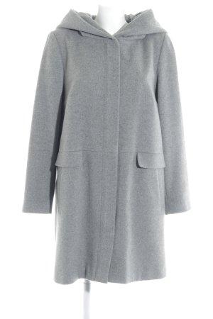 Hallhuber Abrigo con capucha gris moteado look casual