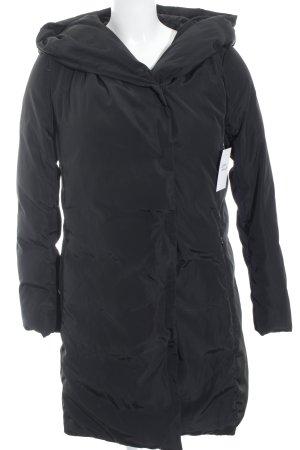 Hallhuber Manteau à capuche noir style décontracté