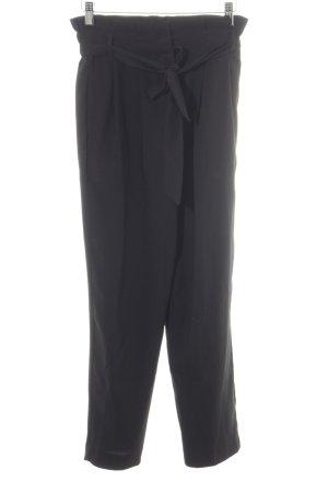 Hallhuber Pantalón de pinza alto negro elegante