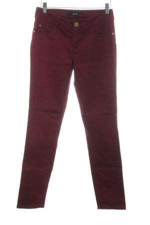 Hallhuber Pantalone peg-top bordeaux stile casual