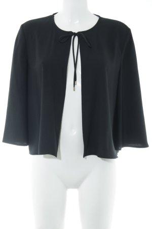 Hallhuber Blusa tipo kimono negro elegante