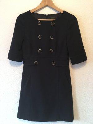 Hallhuber Kleid, dunkelblau, Marine Look, Größe 34
