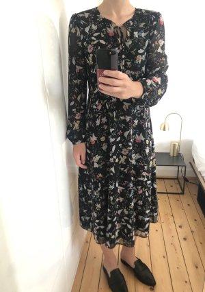 Hallhuber Kleid Maxikleid Midi Blumen Rüschen Volants Gr. 38 NEU