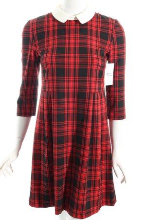 Hallhuber Kleid rot-schwarz Karomuster Brit-Look