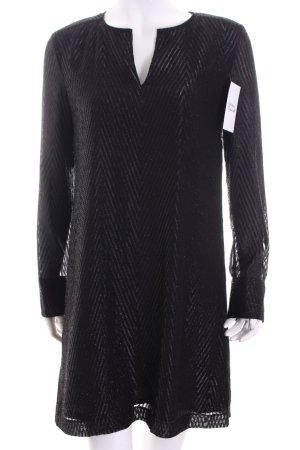 Hallhuber Kleid schwarz Fischgrätmuster Elegant