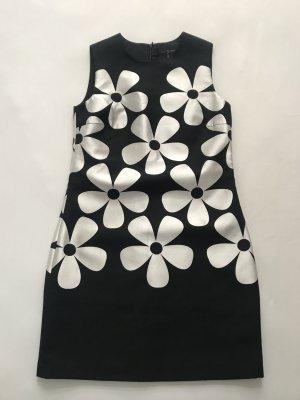 HALLHUBER Kleid schwarz mit Blumen, Gr. 34