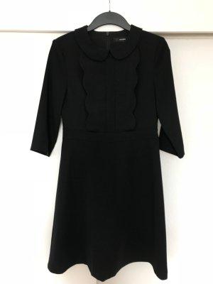 Hallhuber Kleid schwarz mit Rüschen Gr. 36