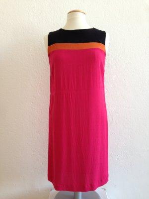 Hallhuber Kleid, Sommerkleid, ärmellos, pink orange schwarz, gestreift, Gr.40