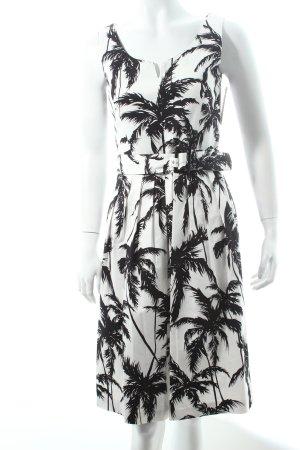 Hallhuber Kleid weiß-schwarz Casual-Look