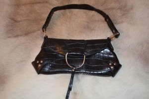 Hallhuber Kleine Handtasche/Clutch mit Nieten in Krokooptik