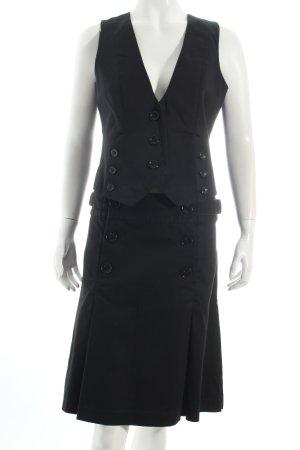 Hallhuber Kostüm schwarz-dunkelblau Casual-Look