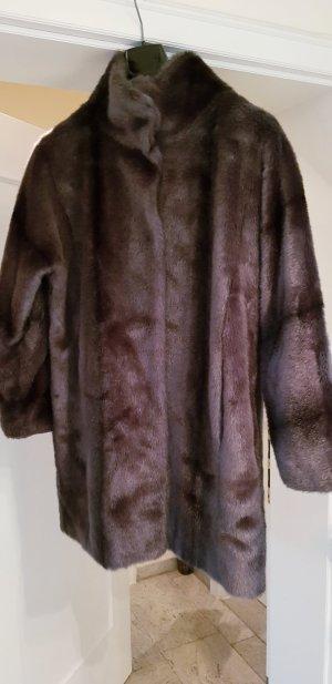 Hallhuber Cappotto in eco pelliccia grigio