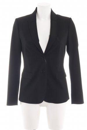 Hallhuber Kurz-Blazer schwarz Business-Look