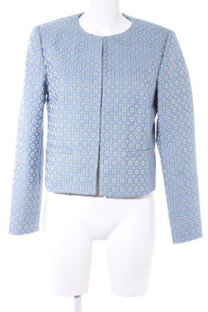 Hallhuber Kurz-Blazer himmelblau-creme abstraktes Muster Business-Look