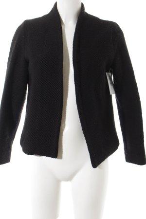 Hallhuber Kurz-Blazer schwarz klassischer Stil