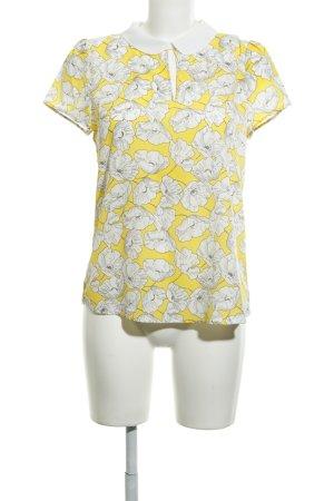 Hallhuber Short Sleeved Blouse flower pattern casual look