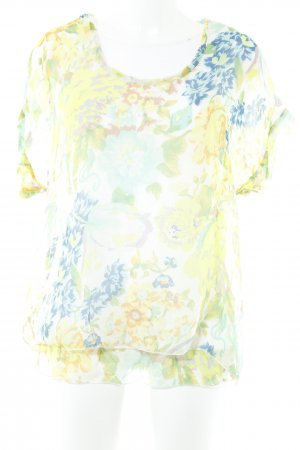 Hallhuber Kurzarm-Bluse florales Muster Casual-Look