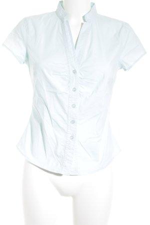 Hallhuber Kurzarm-Bluse türkis klassischer Stil