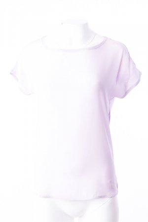 HALLHUBER - Kurzarm Shirt mit Seideneinsatz Flieder