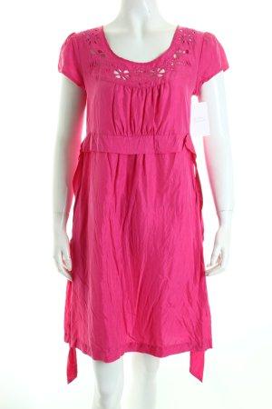 Hallhuber Kurzarmkleid pink Romantik-Look
