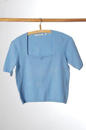 Hallhuber Camiseta azul celeste Algodón