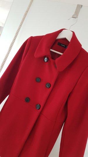 Hallhuber Abrigo corto rojo oscuro