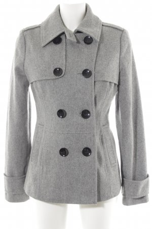 Hallhuber Abrigo corto gris claro moteado look Street-Style