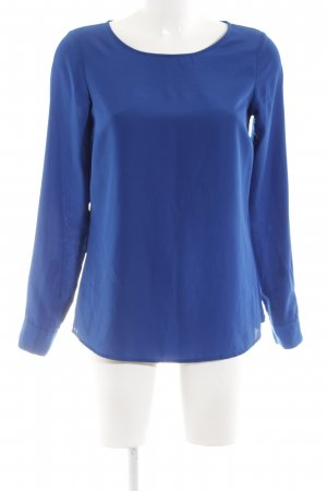 Hallhuber Langarm-Bluse blau Business-Look