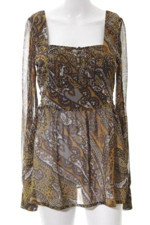 Hallhuber Langarm-Bluse abstraktes Muster extravaganter Stil