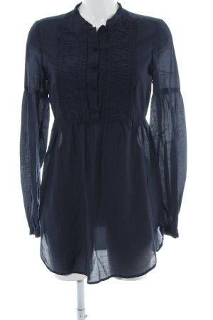 Hallhuber Langarm-Bluse blau Casual-Look