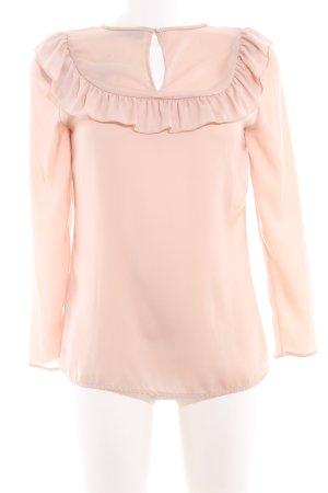 Hallhuber Langarm-Bluse beige Elegant