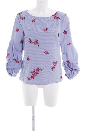 Hallhuber Langarm-Bluse Blumenmuster extravaganter Stil