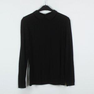 Hallhuber Blouse à manches longues noir tissu mixte