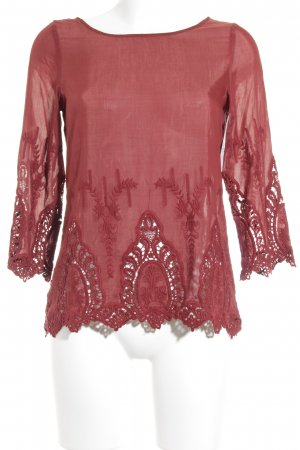 Hallhuber Langarm-Bluse rostrot Casual-Look