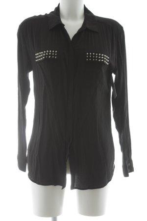 Hallhuber Langarm-Bluse schwarz Elegant