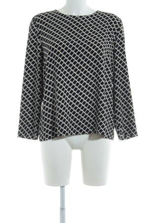Hallhuber Langarm-Bluse schwarz grafisches Muster Elegant