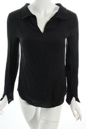 Hallhuber Langarm-Bluse schwarz klassischer Stil