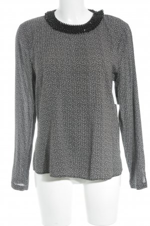 Hallhuber Langarm-Bluse schwarz-weiß Elegant