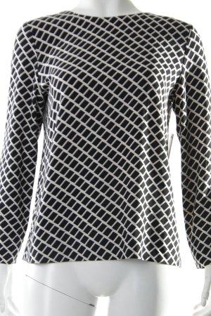 Hallhuber Langarm-Bluse schwarz-weiß grafisches Muster