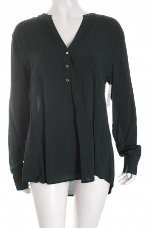 Hallhuber Langarm-Bluse waldgrün klassischer Stil