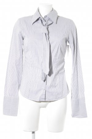 Hallhuber Long Sleeve Shirt white-grey striped pattern business style
